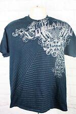 Billabong Mens T-Shirt Navy Blue Gray Short Sleeve Skateboard BMX Size Large
