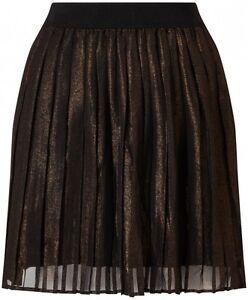 authentische Qualität große Auswahl neueste Art von Details zu design Sommer Damen Plissee Rock ~NÜMPH~ Gr.34 schwarz metallic  gold NEU