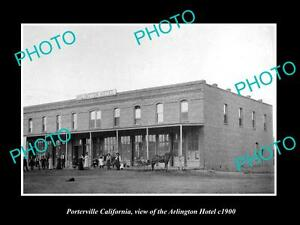 OLD-LARGE-HISTORIC-PHOTO-OF-PORTERVILLE-CALIFORNIA-THE-ARLINGTON-HOTEL-c1900