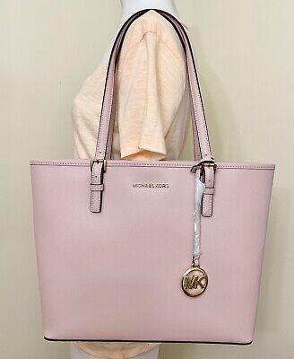 Michael Kors Michael Kors Jet Set Travel Medium Carryall Tote Saffiano Leather Ballet Pink from Walmart | more