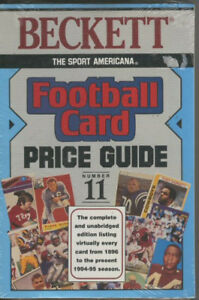 Details about Book - Beckett Football Card Price Guide 11 NFL Trading cards