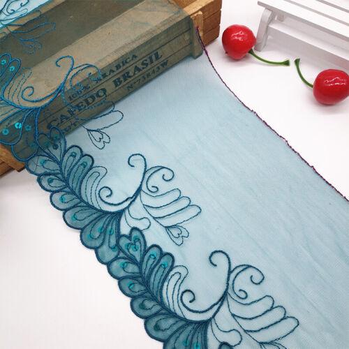 Spitzenbesatz Bandstickerei DIY Sewing Craft Kleid Kleidung Blumenmuster 1 Yard