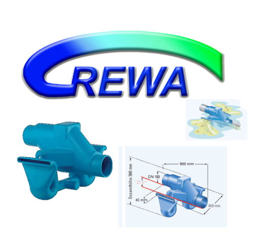 Water Filter Set Rewa f-100xl with 3p siphon and Rimming Inlet 110mm