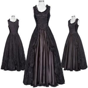 femme-victorien-robe-longue-gothique-Theatre-steampunk-dentelle-amp-satin