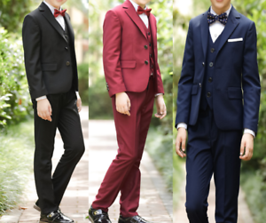 KID 3 PZ Tute blazer Smoking Gilet Gilet Pantaloni Matrimonio Prom Page Boy  </span>