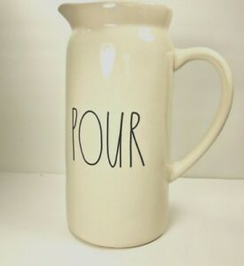 NEW-Rae-Dunn-By-Magenta-Ivory-Ceramic-Pitcher-LL-Farmhouse-POUR