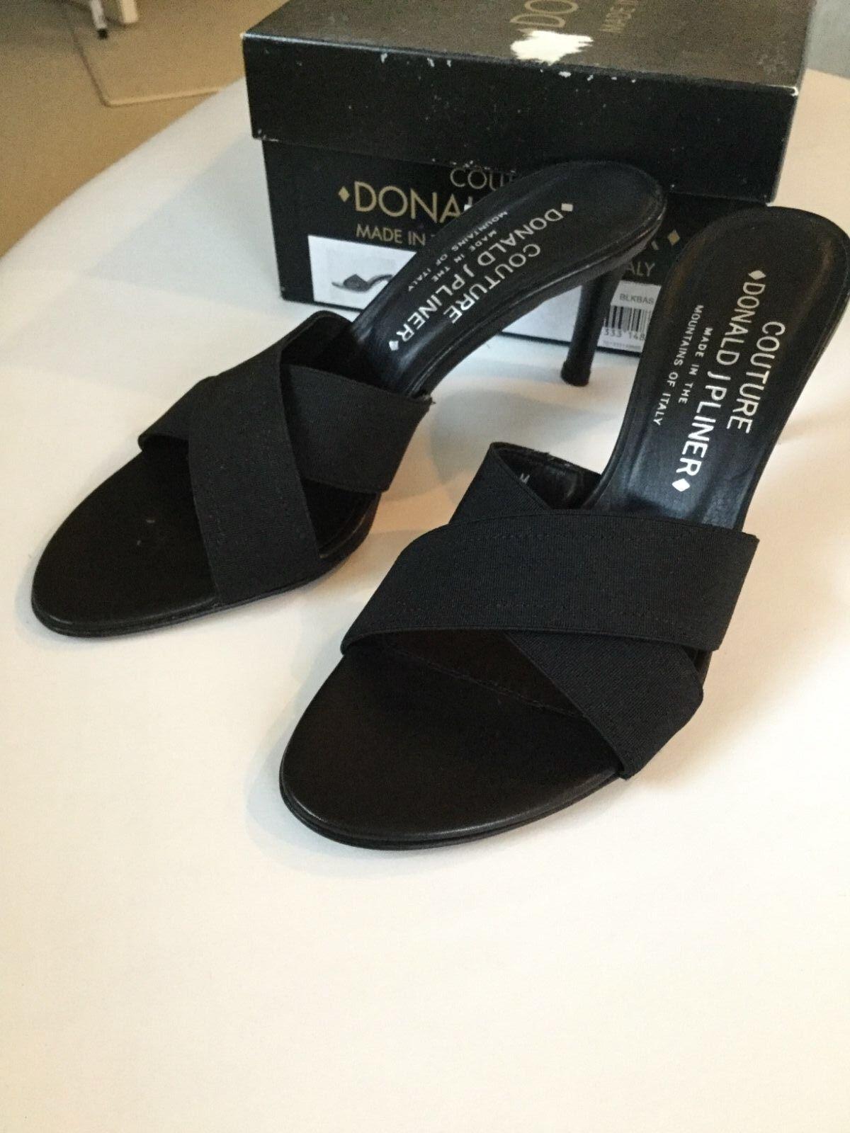 Donald 6 J. Pliner black sandals size 6 Donald Italy New in box 3b0f01