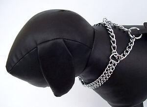 Kettenhalsband-2-reihig-Kettenwuerger-Wuerger-Hundehalsband-Zugstopphalsband