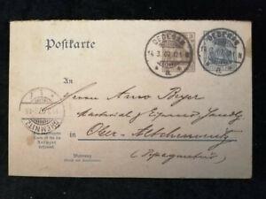 Deutsches-Reich-14-03-1907-Postkarte-Altchemnitz-Chemnitz-Ganzsache