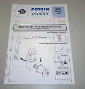 Product Data Sheet Potain Hoist 20 Lvf 10 With Frequenzänderung For Gmr HD 40 A