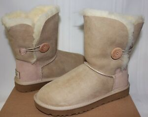 68547a2df62 Details about UGG Women's Bailey Button II 2 Sand Suede boots 1016226 New  With Box!