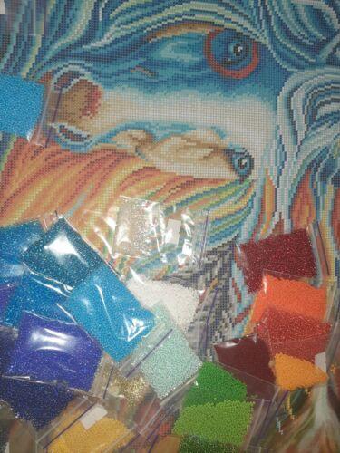 DIY BIG PAINTING Bead Embroidery Kit Needlepoint Beading rainbow horse