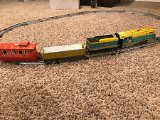 Vintage Hafner Tin Litho Train Wyandotte Toys Missing Some Track& 1 Axle Wind Up