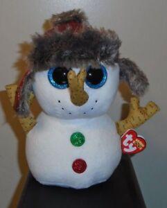 bf4b1b3148f Ty Beanie Boos ~ BUTTONS the Christmas Snowman (8-9 Inch Medium ...