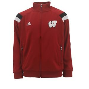 6bb9d2cc Details about Wisconsin Badgers Kids Youth Size Full Zip Warm Up Climalite  Jacket New NCAA