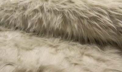 0,5m Fellimitat Schwarz Doubleface Glattleder Kurzhaarplüsch Winterjackenstoff