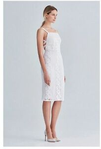 Lover-the-Label-Valentine-Ribbon-Lace-Ivory-White-Dress-Size-6-FREE-POSTAGE
