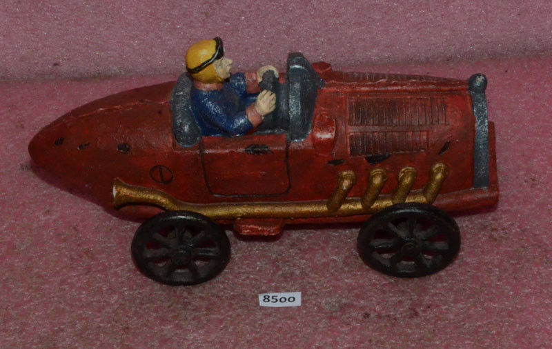 Vintage Cast Iron Racing Car.