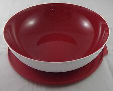 Tupperware C 152 Allegra 3,5 l Schüssel Rot / Weiß Deckel mit Lasche Neu OVP