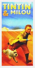 Serviette Drap de plage Tintin et Milou strandtuch beach towel coton