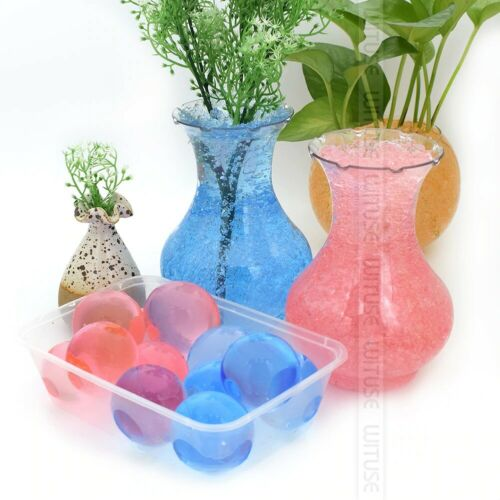 Large Hydrogel Pearl Shape Crystal Soil Water Beads Grow Ball Growing Home Decor