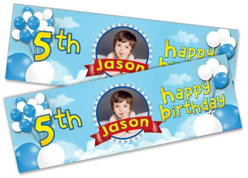 x2 Personalised Birthday Banner Any Image Text Children Kid Party Decoration 73