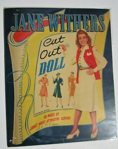 Vintage-JANE-WITHERS-paper-dolls-clothes-amp-costumes-pre-cut