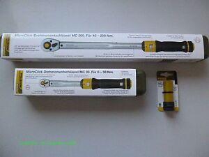 "Proxxon Chiave dinamometrica M 30 6-30Nm 1/4"" +MC 200 40-200Nm+ Spina nut 17mm"