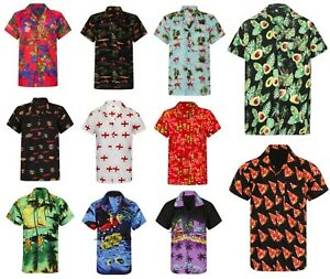 HAWAIIAN-SHIRT-MENS-PALM-TREE-BEACH-HOLIDAY-PARROT-FANCY-DRESS-STAG-PARTY-LOUD
