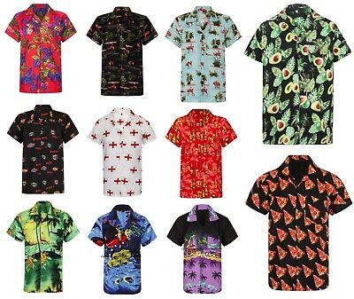 Hawaiian Hawaii Shirt Stag Do Night fancy dress Loud Holiday Palm Purple