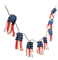Polyester Patriotic Lighted Windsocks 4th Of July
