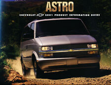 2001 Chevrolet Astro Van 16-page Product Information Guide Brochure - Cargo