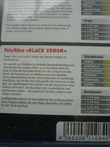 0,61 €//m glatt Polyfibre Black Venom,12,2 m,1,25 mm Co-Polyester