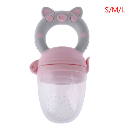 1Pc Teether silicone pacifier fruit feeder food nibbler feeder for baby GK