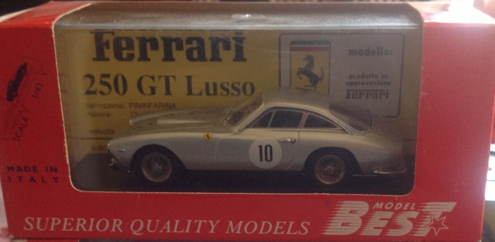 FERRARI 250 GTL scala 1/43 - MODEL BEST 9109