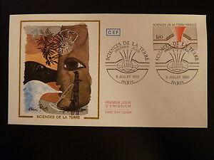 France Premier Jour Fdc Yvert 2093 Sciences De La Terre 1,60f Paris 1980 ImperméAble à L'Eau, RéSistant Aux Chocs Et AntimagnéTique
