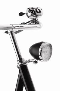 NEW-Axa-Classic-LED-Front-Bicycle-Battery-Headlight-CHROME-or-BLACK-RETRO
