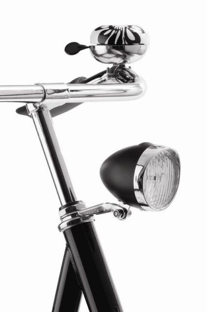 NEW Axa Classic LED Front Bike Battery Headlight CHROME or BLACK - RETRO!