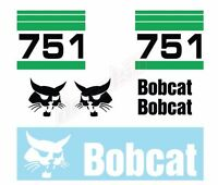 Bobcat 751 Skid Steer Set Vinyl Decal Sticker Aftermarket