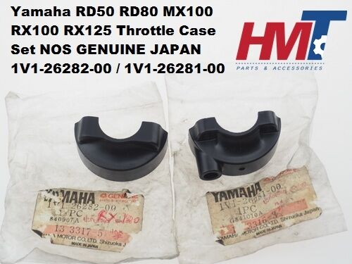 Yamaha RD50 RD80 MX100 RX100 RX125 Throttle Case Set Cap Grip 1V1-26282-00 NOS