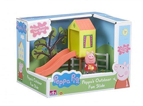 Neuf peppa pig Peppa/'s Extérieur Amusant Toboggan Set de Jeu avec Peppa Figurine