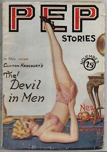 ~PEP STORIES - VINTAGE GGA SPICY ROMANCE PULP MAGAZINE~Nov. 1928 HTF!