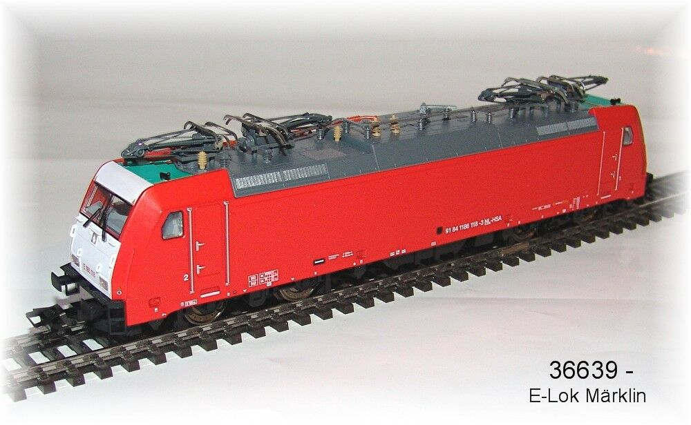 Märklin 36639 E-Lok BR e 186 di NS MFX SOUND metallo #neu in OVP #