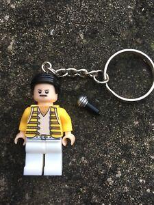 Freddie-Mercury-Queen-Keyring-Keychain-Minifigure-UK-SELLER