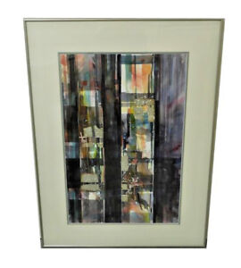 GRANT-DOLDGE-AMERICAN-20TH-C-WATERCOLOR-ON-PAPER-ABSTRACT-COMPOSITION