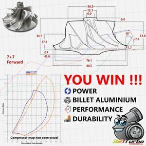 BILLET-Compressor-Wheel-Turbo-Garrett-GT3076-56-76-1-7-7-Hybride-MFS-KTS-G341
