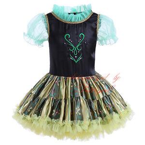 Image is loading Baby-Girls-Costume-Anna-Princess-Cosplay-Toddler-Kids-  sc 1 st  eBay & Baby Girls Costume Anna Princess Cosplay Toddler Kids Party Fancy ...