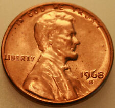 1968 S lincoln memorial brilliant uncirculated penny cent red