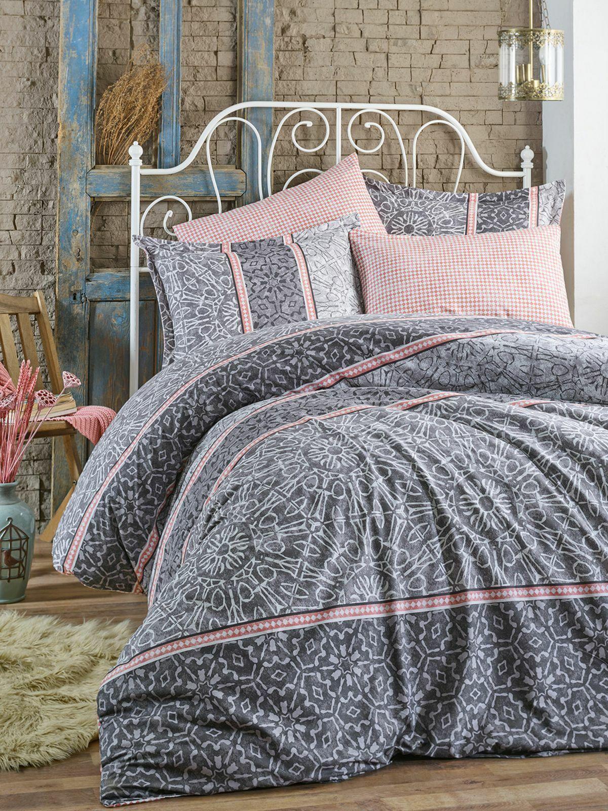 BETTWÄSCHE 200x220 cm Flanell Bettbezug Kissenbezug doppelseitig