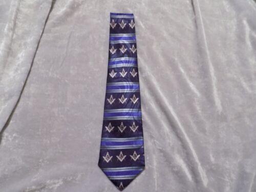 Black Necktie Gray Square Compass Masonic Blue Lodge Freemason Fraternity NEW!